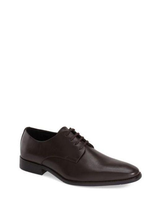 Calvin Klein | Brown 'ramses' Plain Toe Derby for Men | Lyst