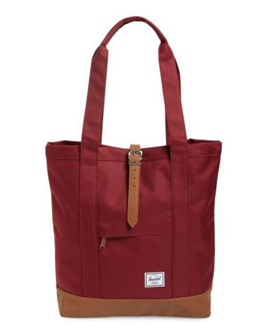 Herschel Supply Co. | Purple 'market' Tote | Lyst