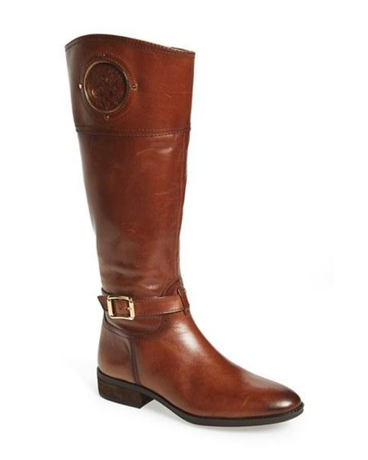 Vince Camuto | Brown 'phillie' Tall Riding Boot | Lyst