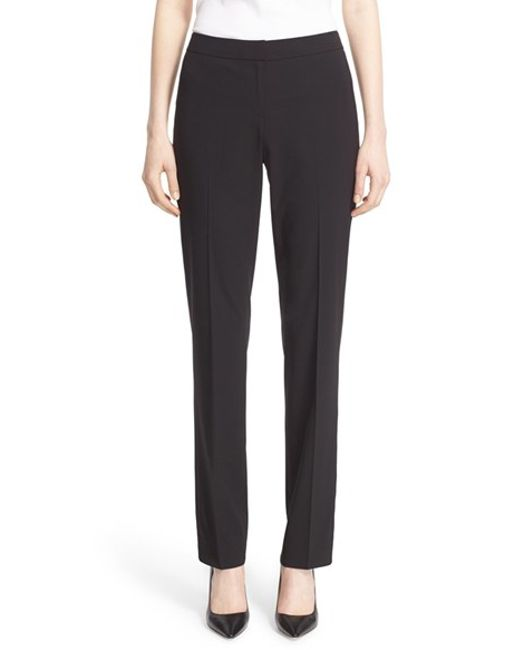 Lafayette 148 New York | Black 'barrow' Stretch Wool Pants | Lyst