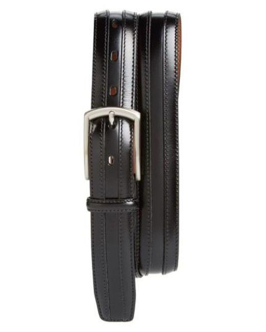 Johnston & Murphy   Black Calfskin Belt for Men   Lyst