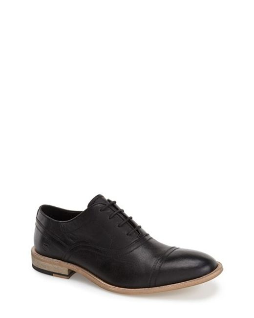 Andrew Marc | Black 'henry' Cap Toe Oxford for Men | Lyst