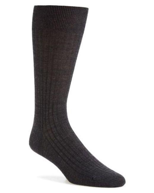 Pantherella | Black Merino Wool Blend Socks for Men | Lyst