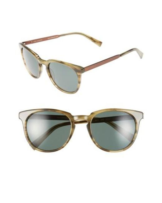 Ted Baker | Brown 53mm Round Sunglasses for Men | Lyst