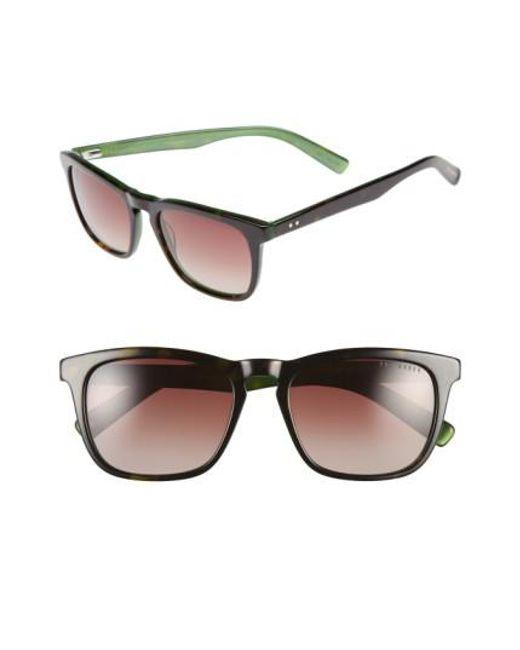 Ted Baker | Green 53mm Sunglasses for Men | Lyst