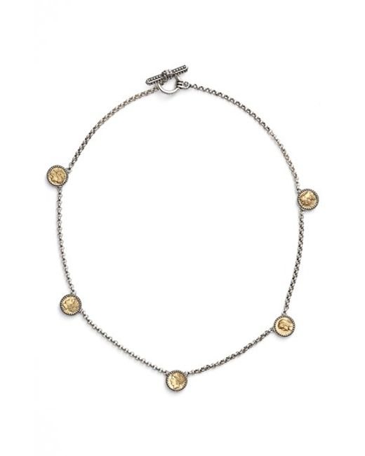 Konstantino | Metallic 'kerma' Goddess Coin Necklace | Lyst