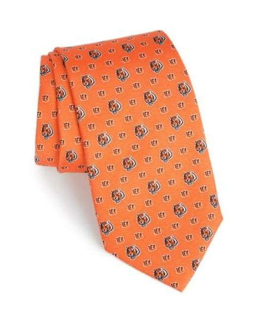 Vineyard Vines   Orange 'cincinnati Bengals - Nfl' Woven Silk Tie for Men   Lyst