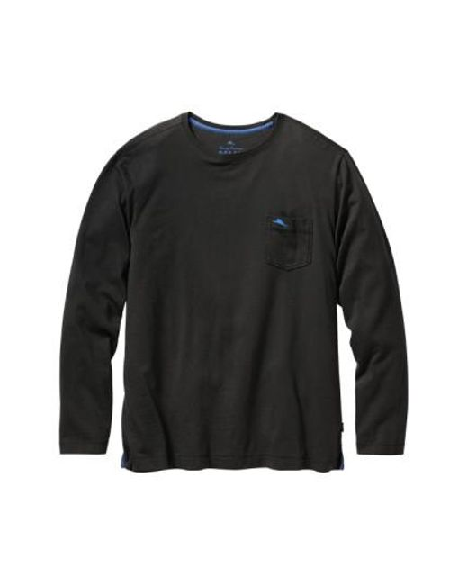 Tommy Bahama | Black 'bali Skyline' Long Sleeve Pima Cotton T-shirt for Men | Lyst