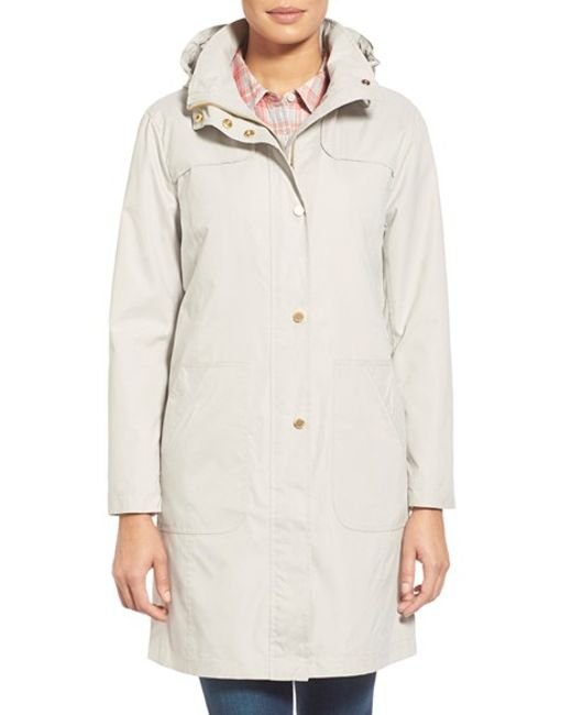 Ellen Tracy | Gray A-line Raincoat With Detachable Hood | Lyst
