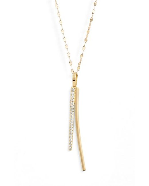 Lana Jewelry | Yellow 'elite - Electric Flawless' Bar Pendant Necklace | Lyst