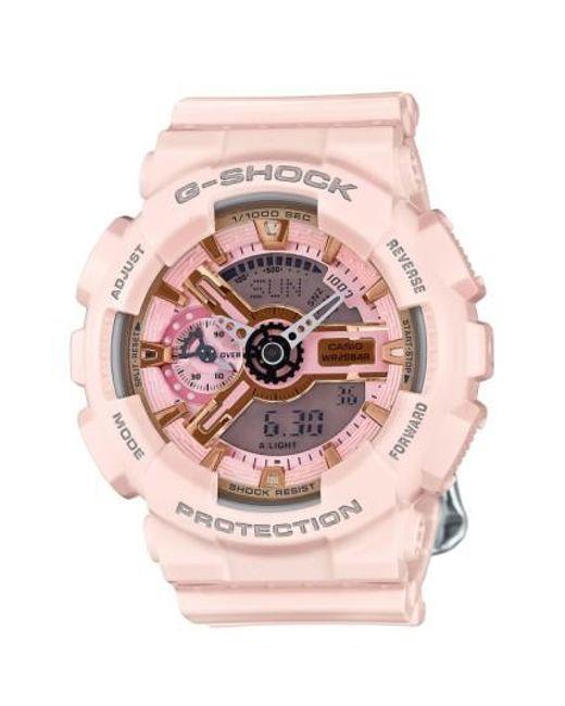 G-Shock   Pink G-shock 'ana-digi' Resin Watch   Lyst