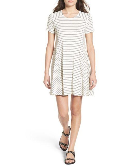 Lush   White Paneled Shift Dress   Lyst