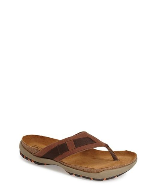 Naot | Brown 'panorama' Flip Flop for Men | Lyst