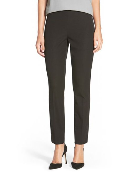 Elie Tahari | Black 'juliette' Slim Pants | Lyst