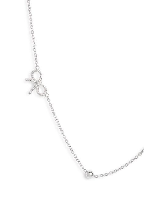 Olivia Burton - Metallic Bow Chain Necklace - Lyst