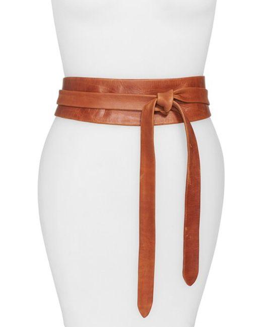 ada handmade leather wrap belt in black lyst