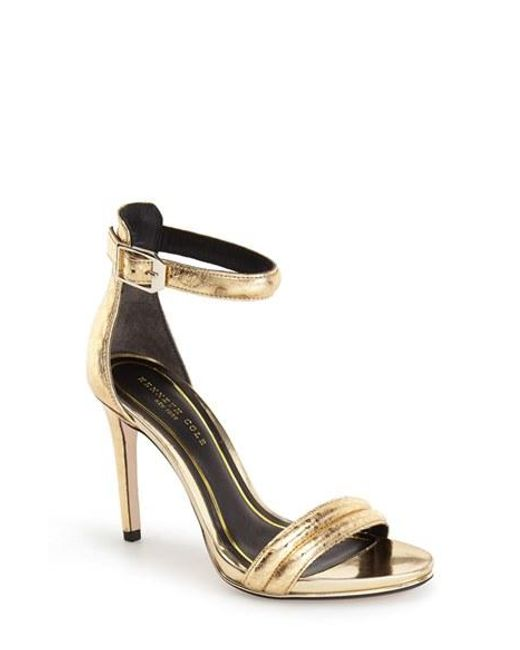 Kenneth Cole | Metallic 'Brooke' Ankle Strap Sandal | Lyst