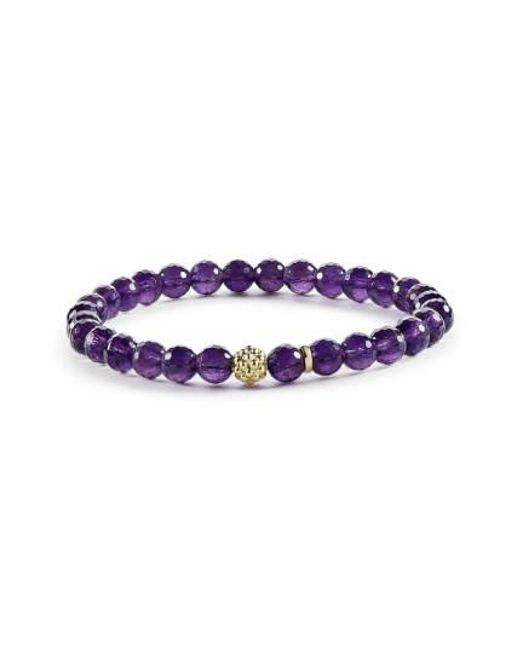 Lagos   Purple 'caviar Icon' Semiprecious Stone Bracelet   Lyst