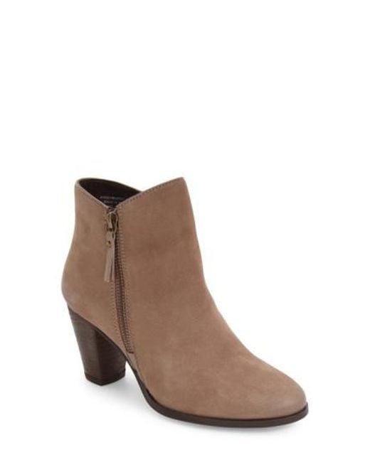 MIA | Brown Maddock Block Heel Bootie | Lyst