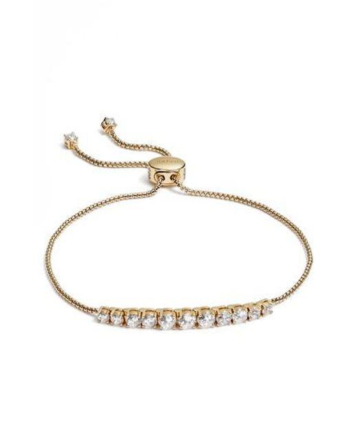 Nadri - Metallic Crystal Bracelet - Lyst