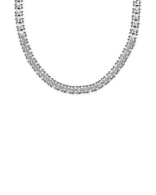 Lagos | Metallic Caviar Spark Diamond Collar Necklace | Lyst