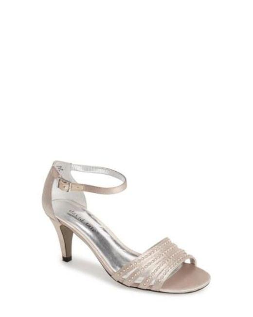 David Tate - Metallic 'terra' Ankle Strap Sandal - Lyst