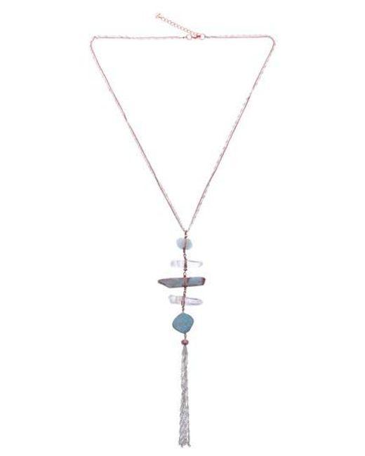 Nakamol - Metallic Raw Amazonite & Crystal Y-necklace - Lyst