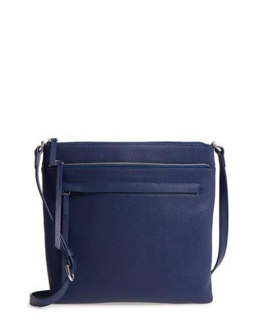 Nordstrom - Blue Finn Leather Crossbody Bag - Lyst