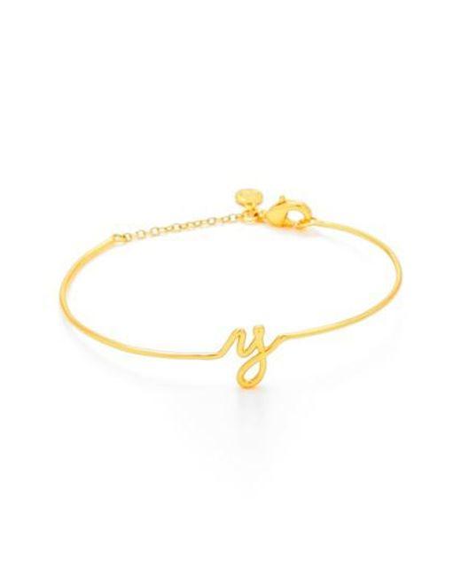 Gorjana - Metallic Alphabet Bracelet - Lyst