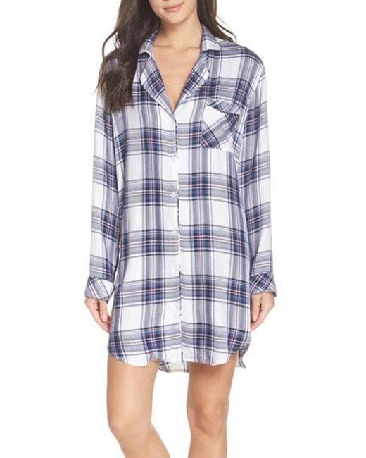 Rails - Blue Sleep Shirt - Lyst