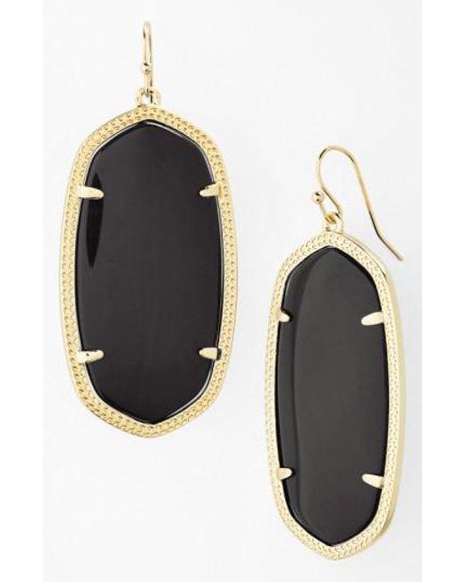 Kendra Scott   Metallic Danielle - Large Oval Statement Earrings   Lyst