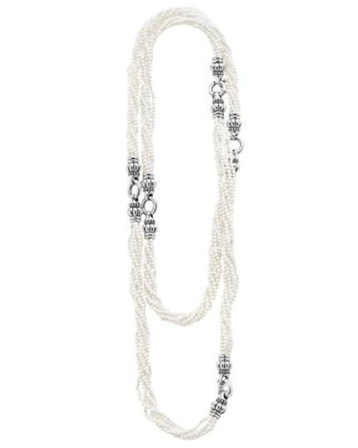 Lagos - 'black & White Caviar' Agate Multistrand Necklace - Lyst