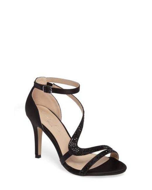 Paradox London Pink - Black Mckayla Embellished Serpentine Sandal - Lyst