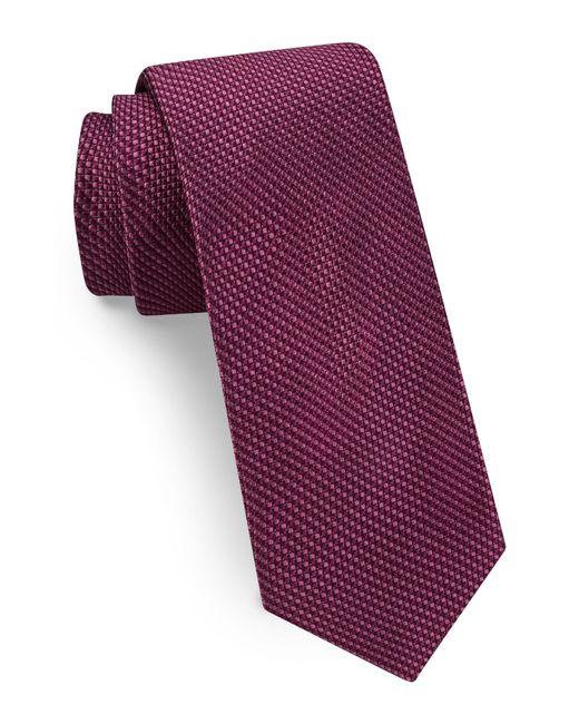 Ted Baker - Purple Solid Skinny Silk Tie for Men - Lyst
