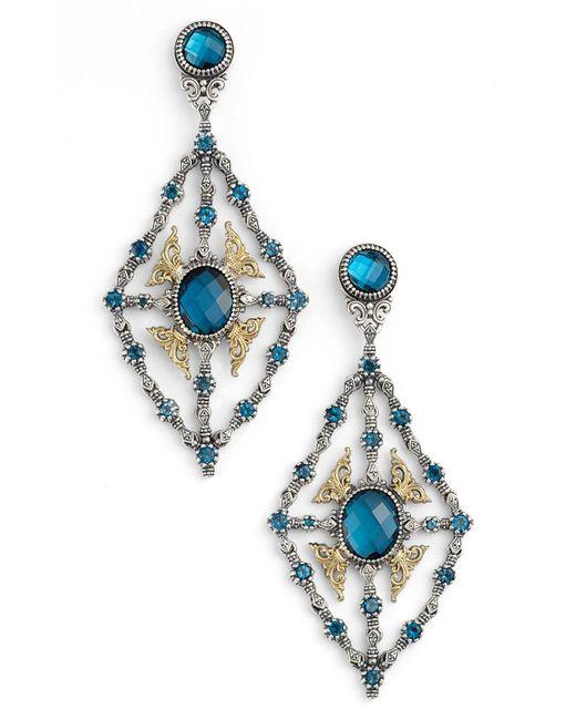 Konstantino - Metallic 'thalassa' Blue Topaz Kite Chandelier Earrings - Lyst