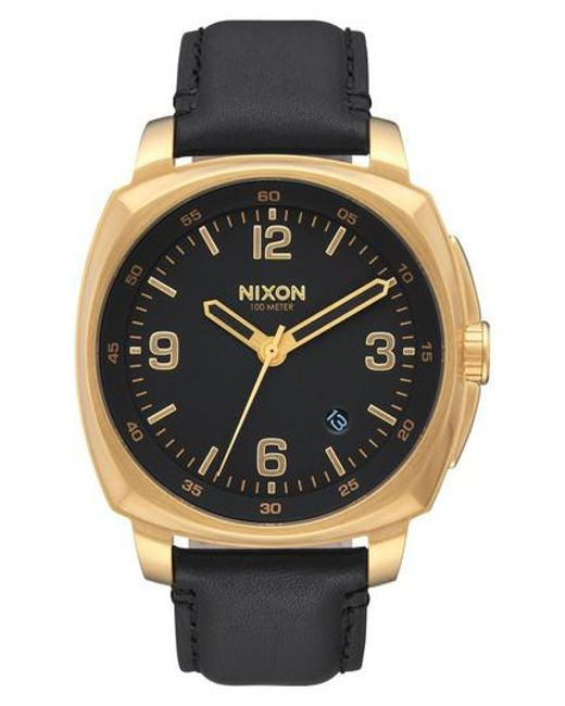 Nixon | Multicolor Charger Leather Strap Watch for Men | Lyst
