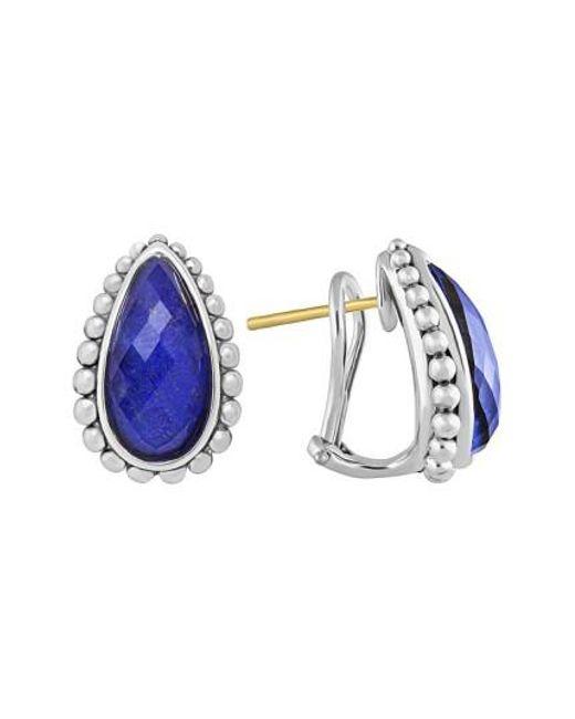 Lagos   Blue 'maya' Stud Earrings   Lyst