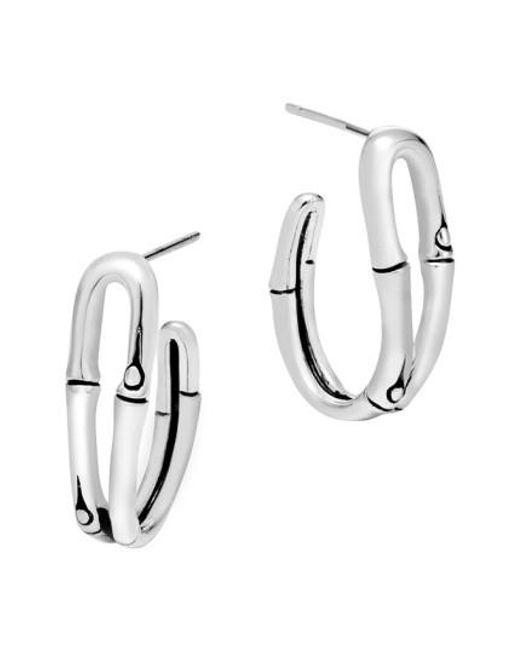 John Hardy | Metallic 'bamboo' Small Hoop Earrings | Lyst