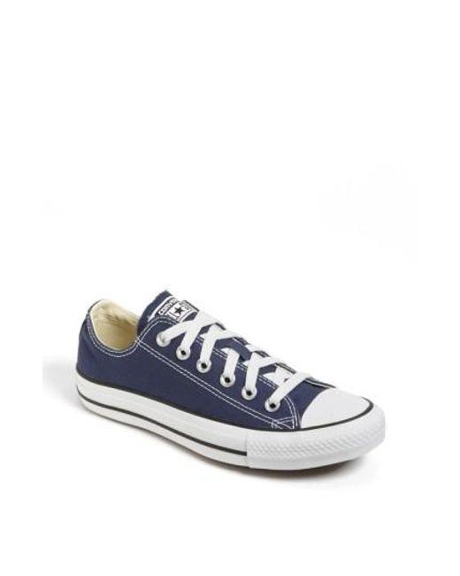 Converse   Blue Chuck Taylor Low Top Sneaker   Lyst