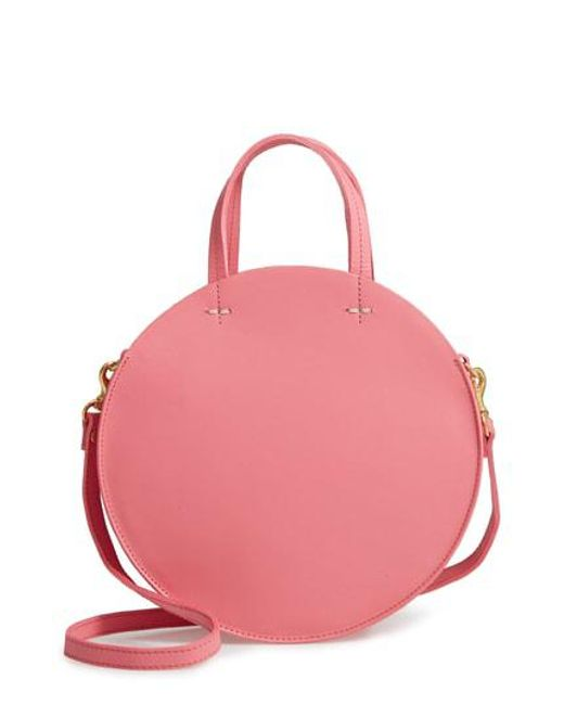 Clare V. - Pink Petit Alistair Leather Circular Crossbody Bag - Lyst