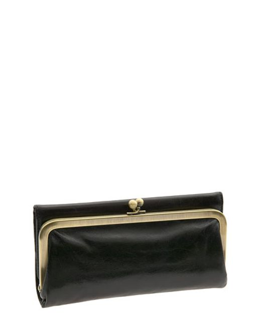 Hobo | Black 'rachel' Frame Wallet | Lyst