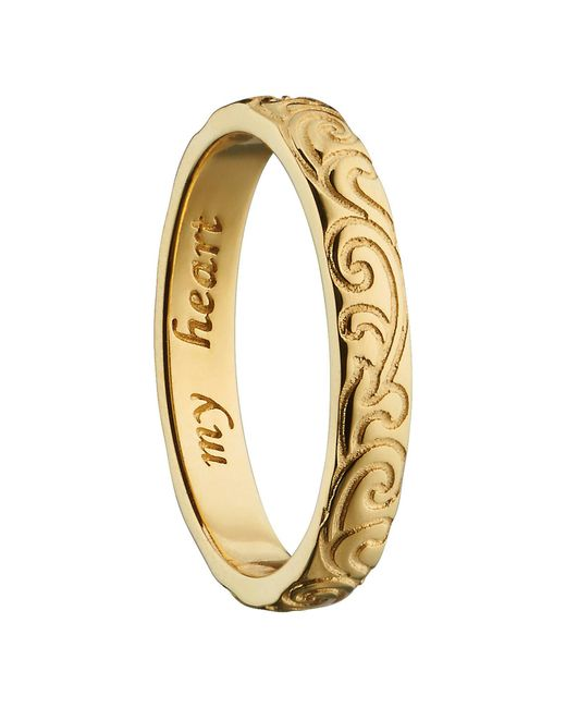 Monica Rich Kosann - Metallic My Heart 18k Gold Poesy Ring - Lyst