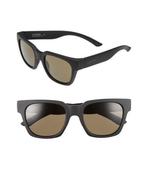 76a0c24864 Lyst - Smith  comstock  52mm Rectangular Sunglasses in Black