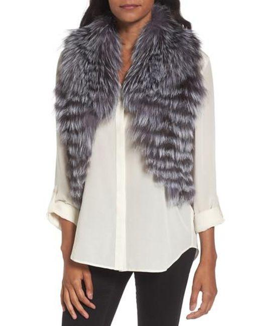 Love Token - Natural Genuine Fox Fur Vest - Lyst