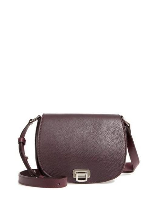 Shinola - Calfskin Leather Shoulder Bag - Purple - Lyst