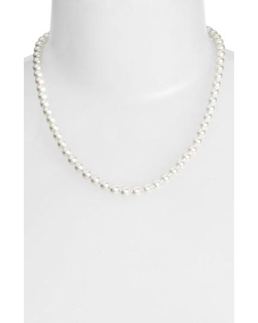 Nadri | White Imitation Pearl Collar Necklace | Lyst