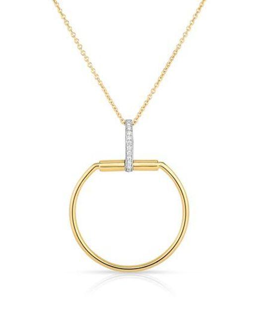 Roberto Coin   Metallic Classica Parisienne Diamond Pendant Necklace   Lyst