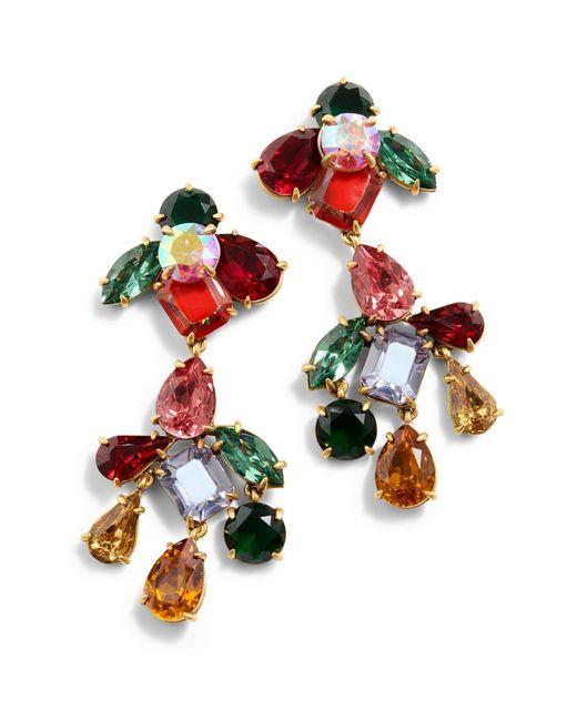 J.Crew - Multicolor Cyrstal Cluster Chandelier Earrings - Lyst