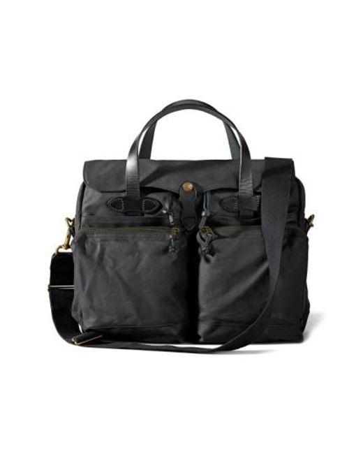 Filson | Black '24 Hour' Tin Cloth Briefcase | Lyst