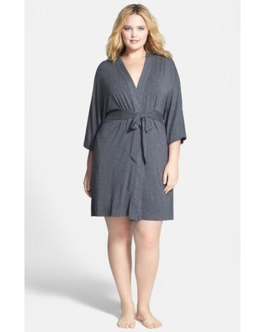 DKNY | Gray 'urban Essentials' Robe | Lyst